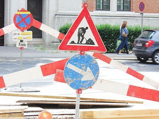 Sanierungsarbeiten in der Adalbert-Stifter-Straße im 20. Bezirk