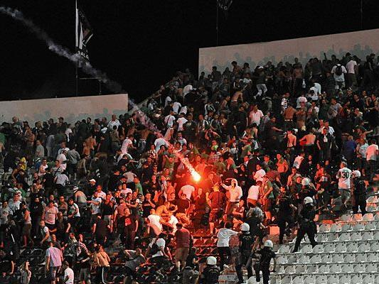 Nach dem Skandalspiel am 23. August treffen Rapid und der PAOK Saloniki nun erneut aufeinander