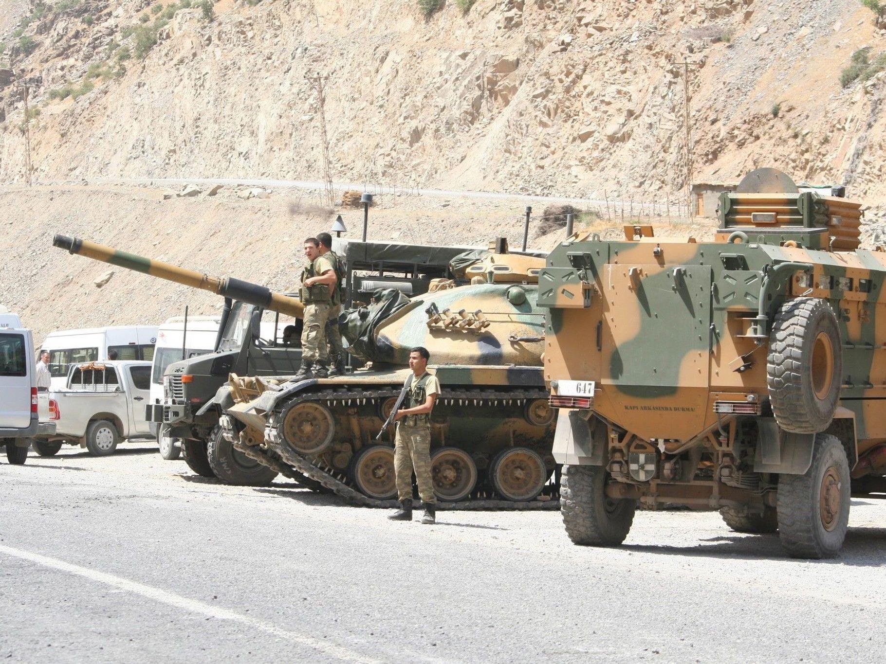 """Angeblich plant die Türkei fünf """"Sicherheitszonen"""" auf syrischem Gebiet."""