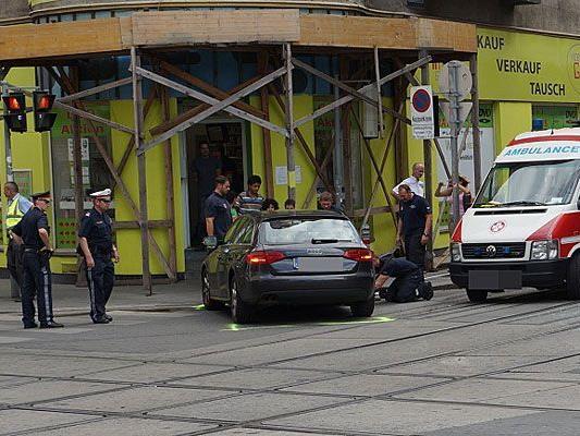 Zwei Pkws waren in den Unfall auf der Lerchenfelder Straße verwickelt