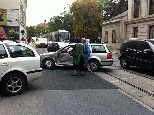 Auf der Währinger Straße geschah ein Unfall
