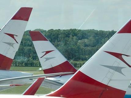 Eine AUA-Maschine wurde bei einer Kollision auf dem Wiener Flughafen schwer beschädigt.