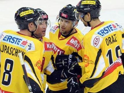 Die Vienna Capitals konnten sich am Freitag gegen Salzburg behaupten.