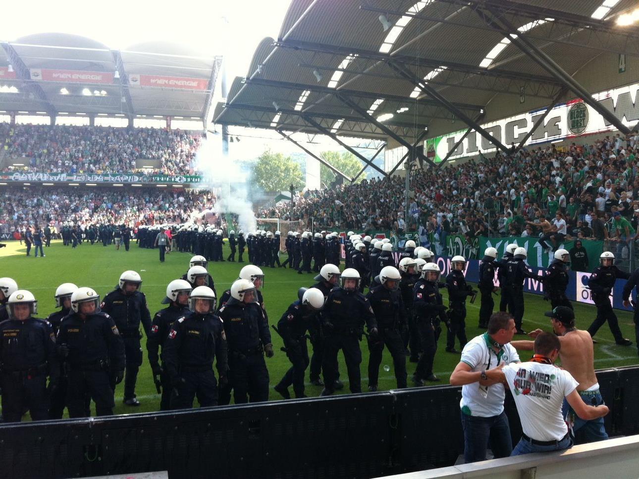 Nach den Ausschreitungten im letzten Wiener Derby im Hanappi Stadion, bleibt die Spannung groß.