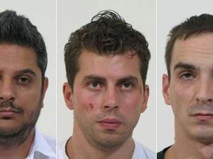 Fahndungsbilder von allen sechs Verdächtigen wurden nun von der Polizei veröffentlicht.
