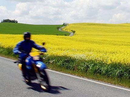 Für den Motorradlenker kam jede Hilfe zu spät.