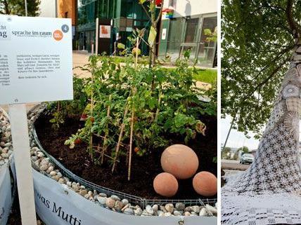 Urban Farming und umhäkelte Bäume: Das neue Grätzel Neu Marx setzt erste Schritte, um ein hipper Stadtteil zu werden.