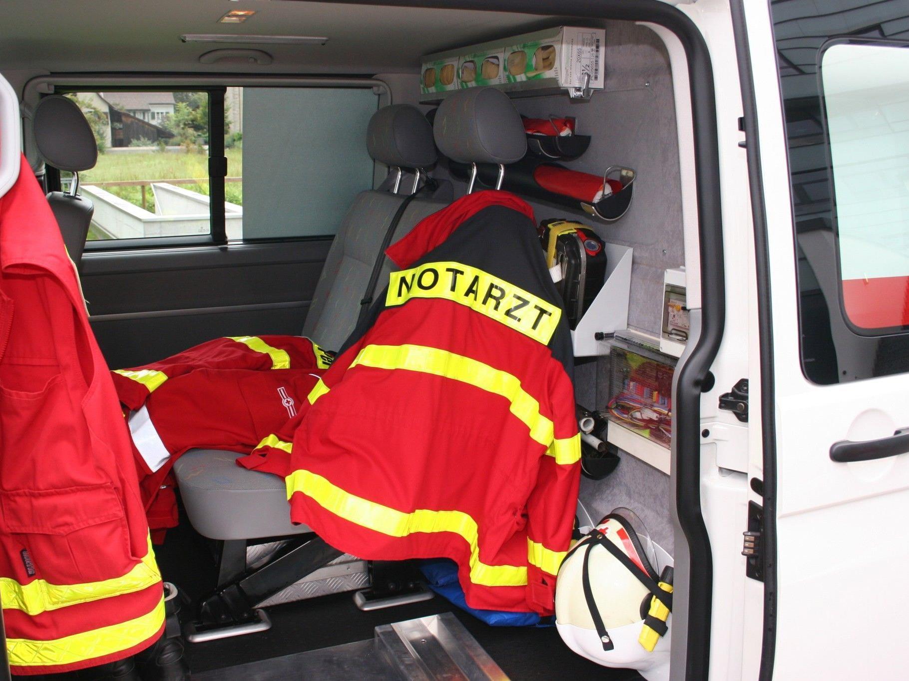 Vier Verletzte wurden in das Rieder Krankenhaus eingeliefert.