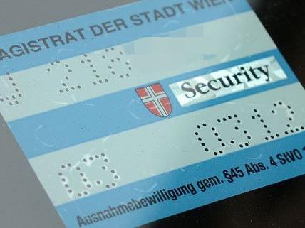 Bisher wurden 2.500 Parkpickerl in Wien beantragt.