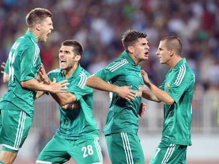 Rapid kämpfte gegen Vojvodina Novi Sad in der Europa League-Qualifikation.