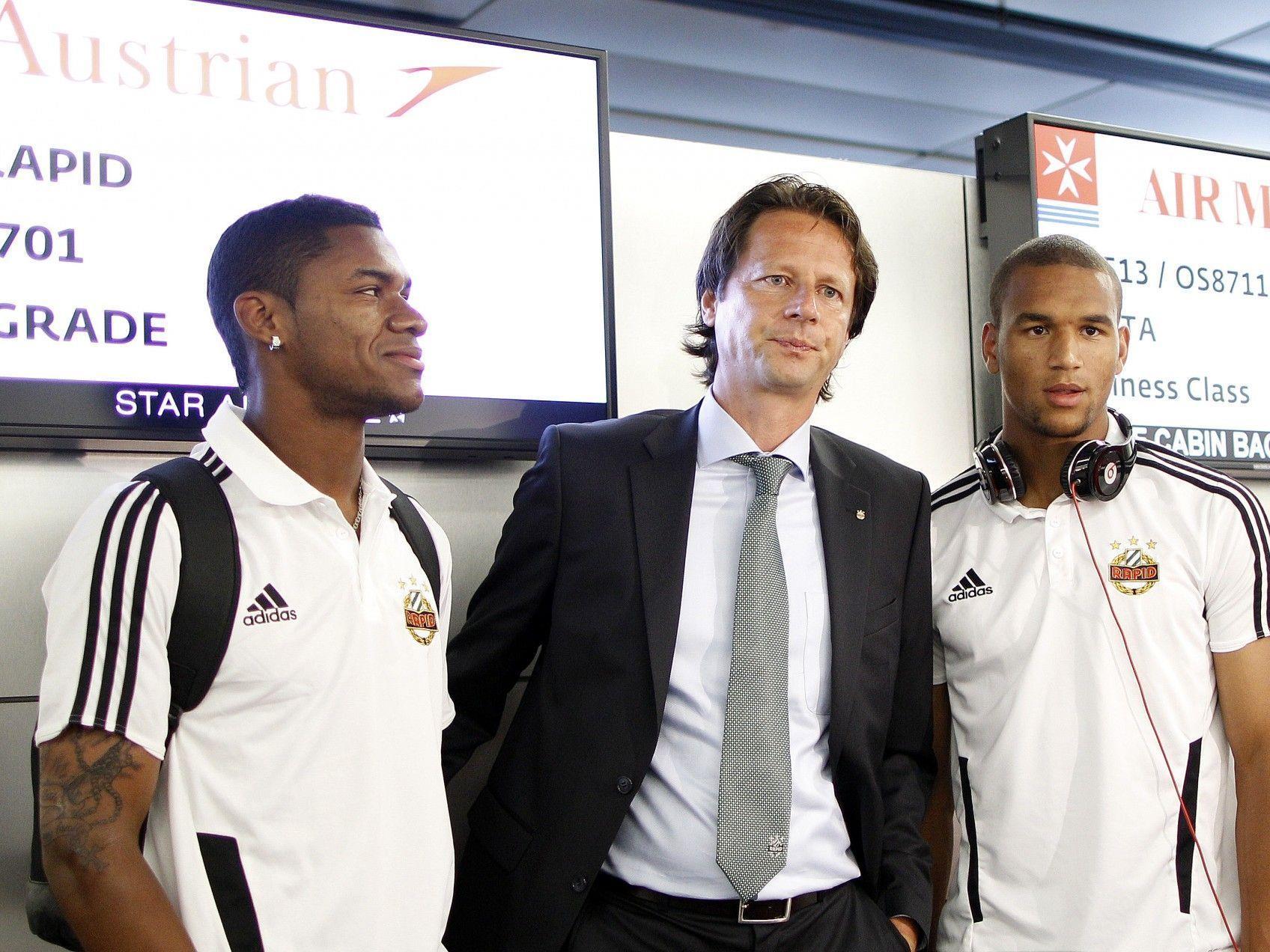 Rapid Wien flog am Mittwoch bereits nach Novi Sad zur dritten Qualifikationsrunde in der Europa League.