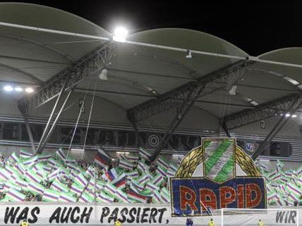 Die Rapid Fans sorgten für eine gute aber friedliche Stimmung im Stadion
