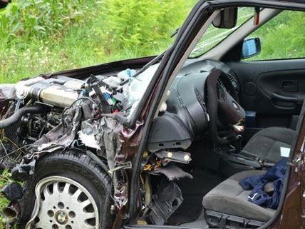 Der Lenker wurde am Freitag bei dem Unfall im Bezirk Baden eingeklemmt.