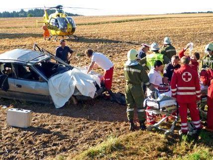 Erst Stunden nach dem Unfall im Waldviertel wurde der Verletzte gefunden.