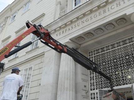 Der Verfassungsgerichtshof ist am Montag übersiedelt.