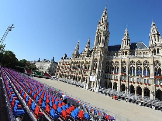 Vienna Masters vor dem Wiener Rathaus