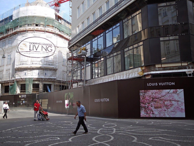"""Die neue Luxusmeile """"Goldenes Qaurtier"""" eröffnet im Oktober seine Pforten in Wien."""