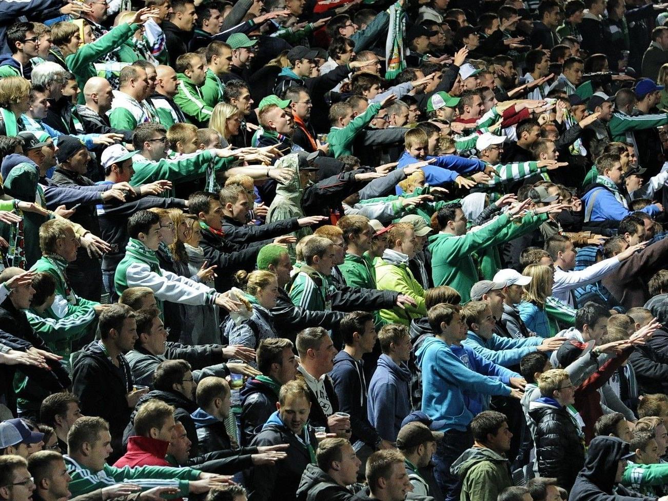 Die treuen Rapid-Fans feuerten ihre Mannschaft im Hanappi Stadion an.