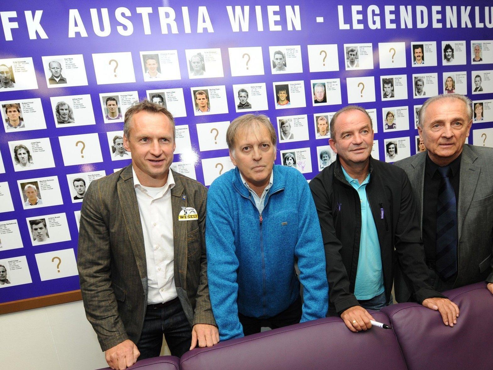 """Die Wiener Austria eröffnete am Mittwoch ihren """"Legendenklub""""."""