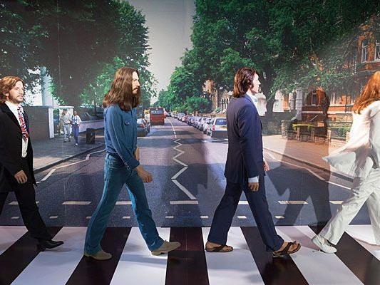 In ihrer wohl berühmtesten Pose sind die Beatles bei Madame Tussauds in Wien zu sehen