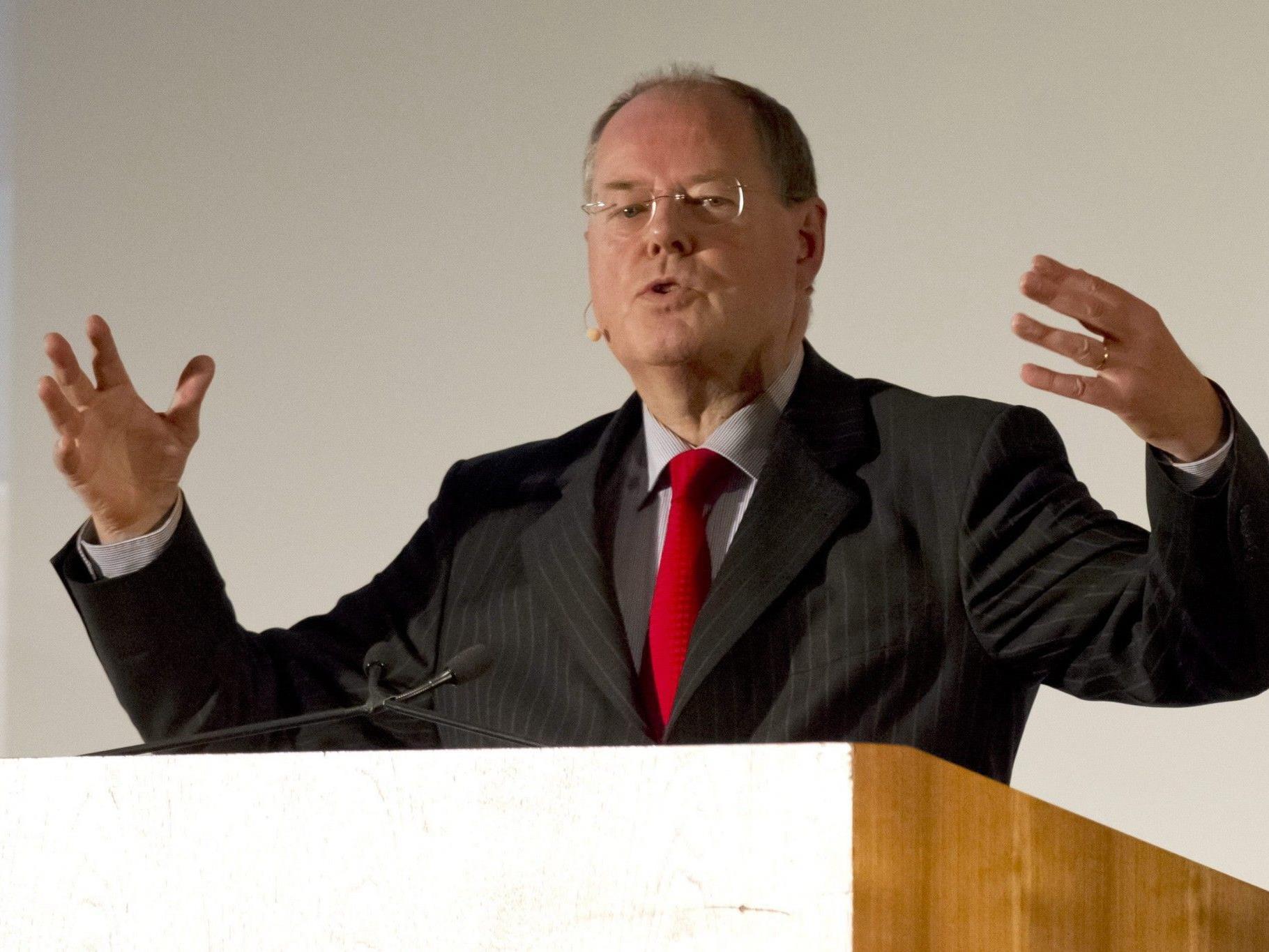 Kanzlerkandidat der SPD: Peer Steinbrück.