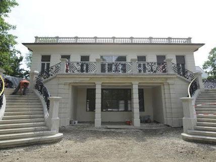 Die Klimt-Villa in Wien-Hietzing während des nun abgeschlossenen Umbaus