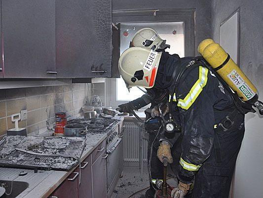 In Brunn am Gebirge galt es, einen Küchenbrand zu löschen