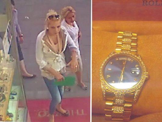 Diese wertvolle Uhr der Marke Rolex wurde von der Frau auf dem Bild gestohlen