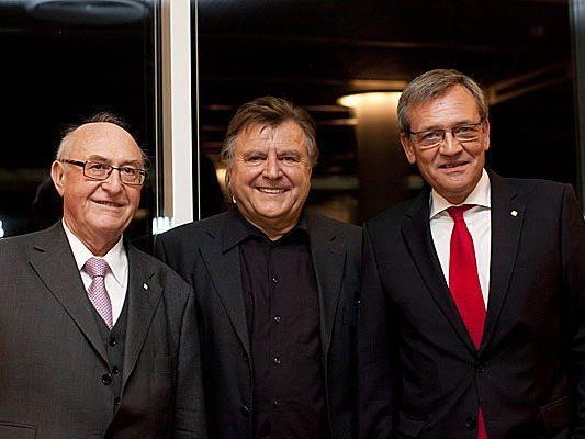Dr. Günter Geyer, Vorstandsvorsitzender Wiener Städtische Versicherungsverein, Lukas Resetarits, Kabarettist und Mag. Robert Lasshofer, Generaldirektor Wiener Städtische Versicherung