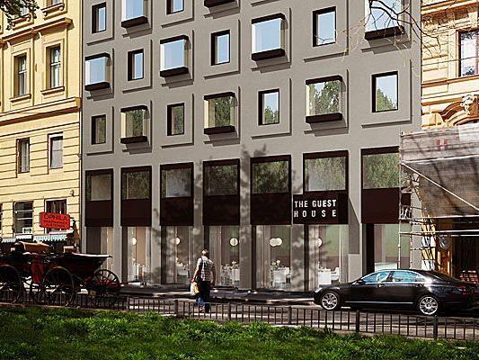 "Visualisierung des Hotels ""The Guest House"" am Wiener Schubertring"
