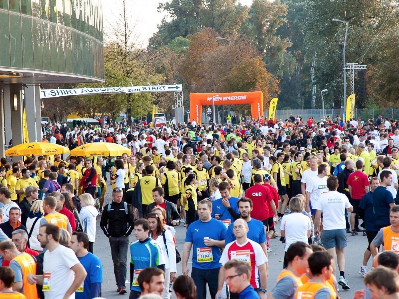 Neuer Teilnehmerrekord beim Wien Energie Business Run 2012.