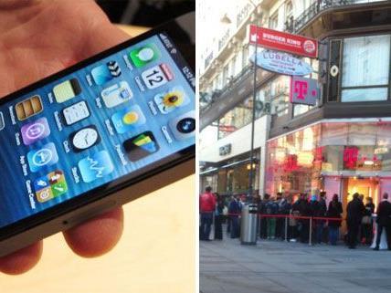 A1 hat das Modell verlost, in Wien standen die Fans auch bei T-Mobile Schlange.