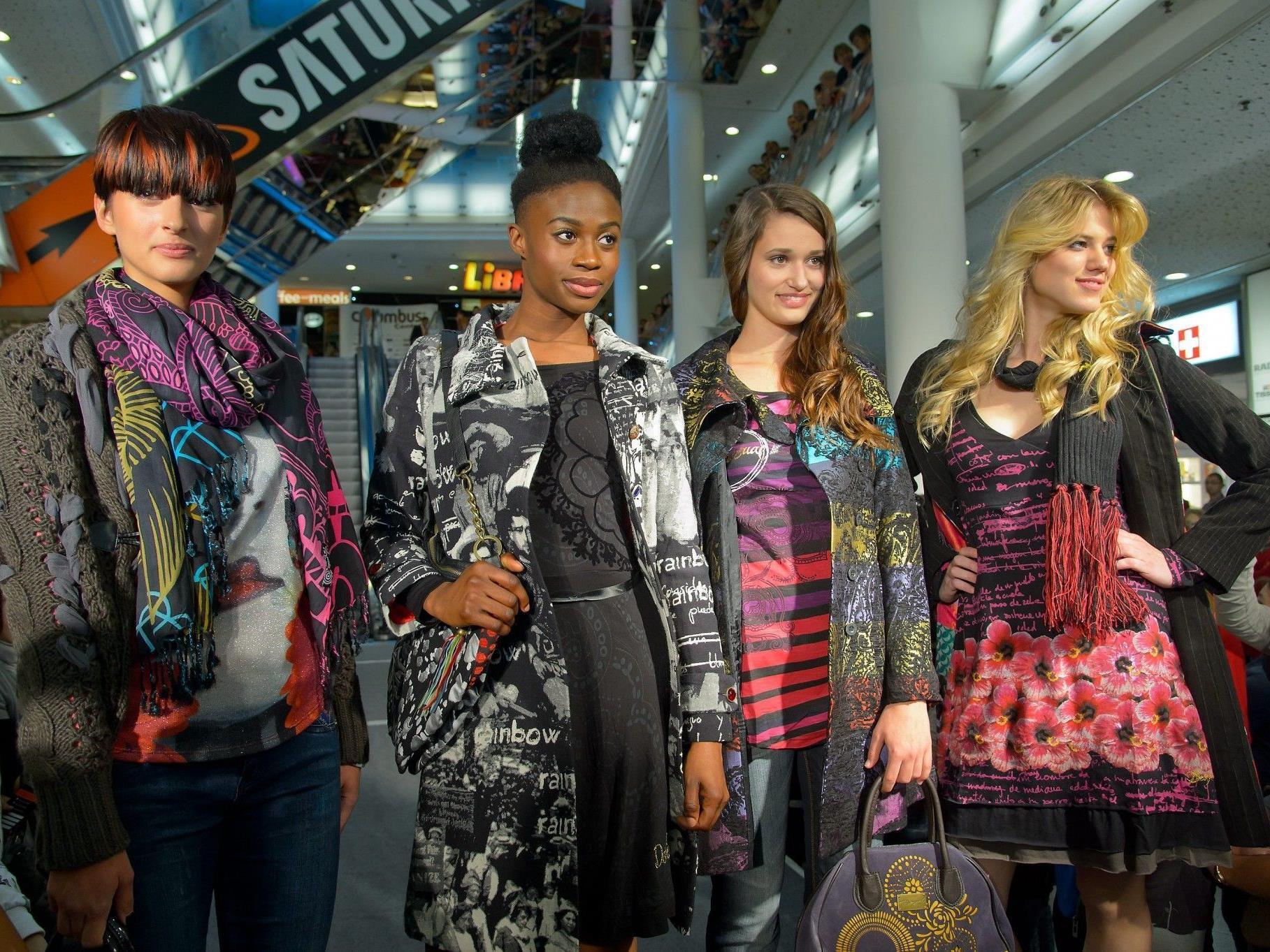 """Die vier Gewinnerinnen von """"Austria's Next Topmodel"""" begeisterten im Columbus Center."""
