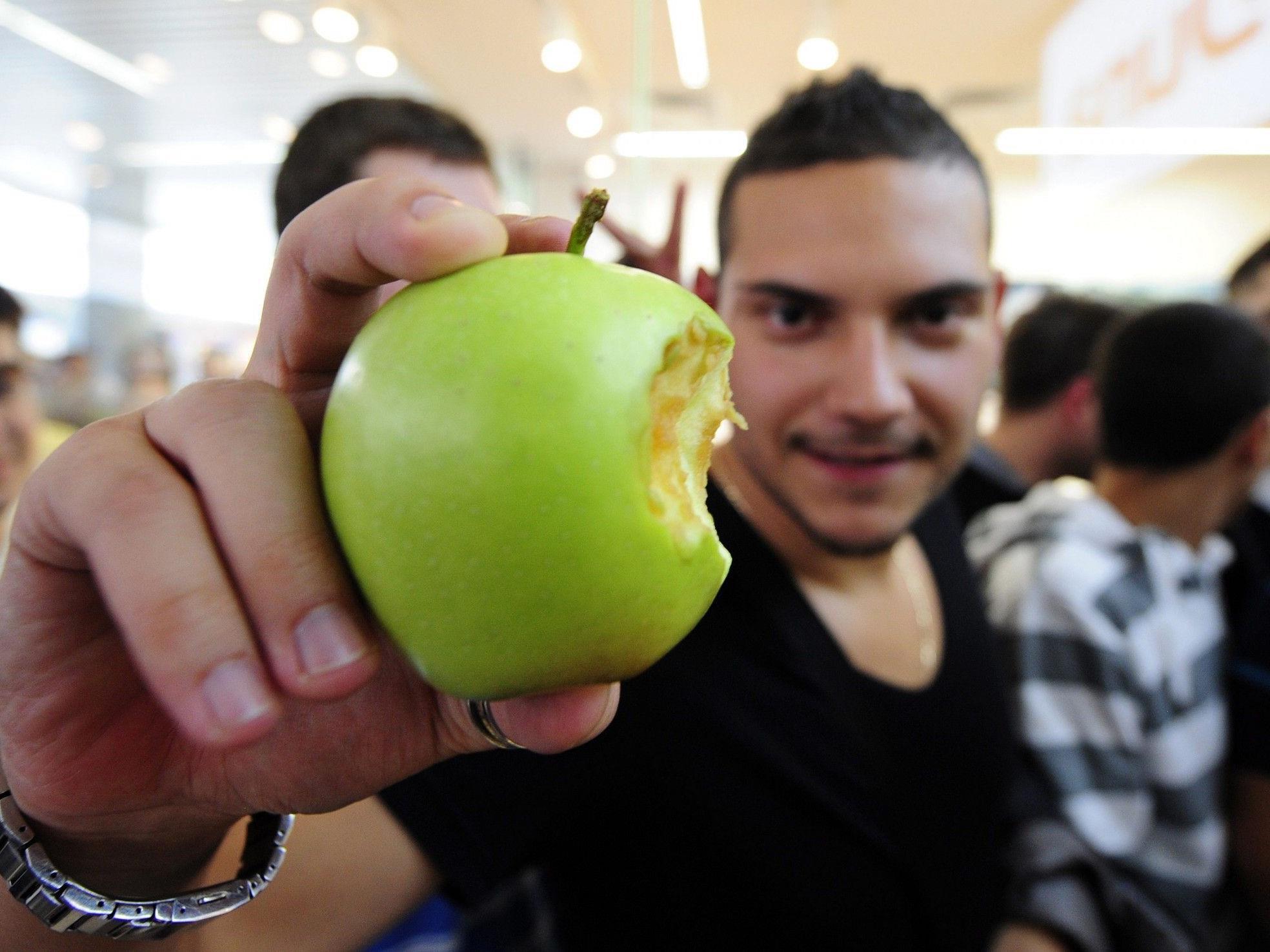 Der angebissene Apfel könnte für Appel zum Problem in Russland werden.