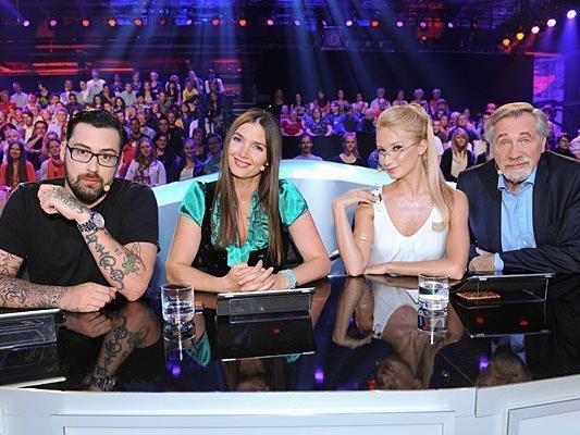 """Bei der sechsten Ausgabe von """"Die große Chance"""" stellen sich wieder viele Talente der Jury aus Sido, Zabine, Karina Sarkissova und Peter Rapp"""