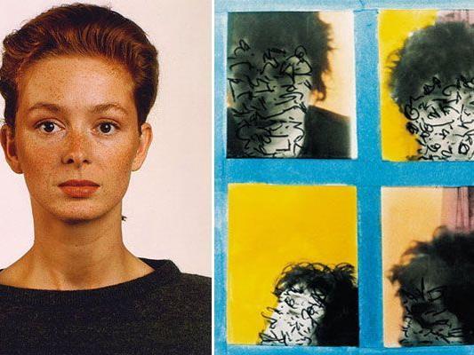 Bei der Foto-Automaten-Kunst-Ausstellung: Thomas Ruff, Porträt (Petra Lappat), 1987 (links), Susan Hiller, Midnight, Euston, 1983
