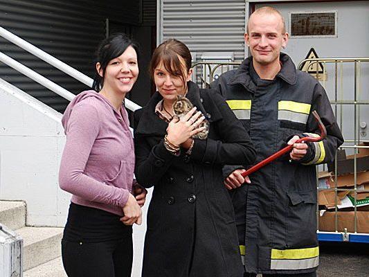 Große Erleichterung nach der Katzenrettung in Neunkirchen