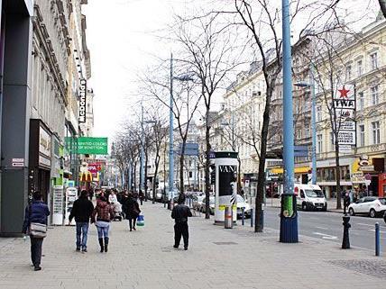 Die Mariahilfer Straße wird zur Fußgängerzone - jedoch nicht vollständig.