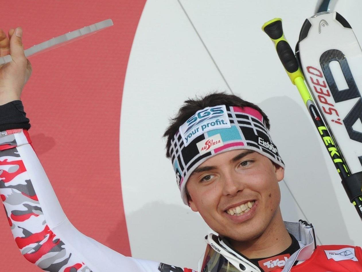 20-jähriger Vorarlberger hat das Zeug zum Senkrechtstarter im Riesentorlauf.