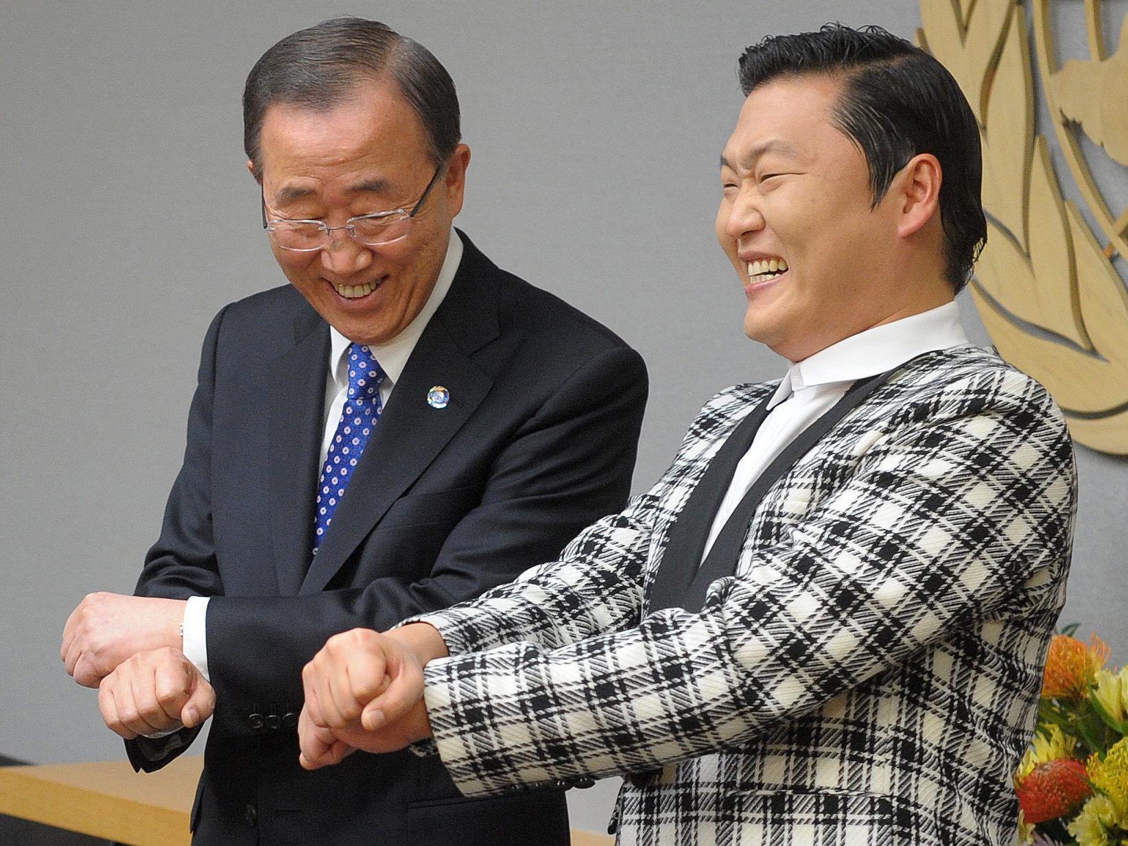 Der UN-Generalsekretär versucht sich im neuen Mode-Tanz