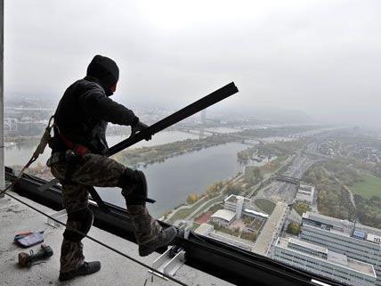 Ausblick von der höchsten Baustelle der Stadt.