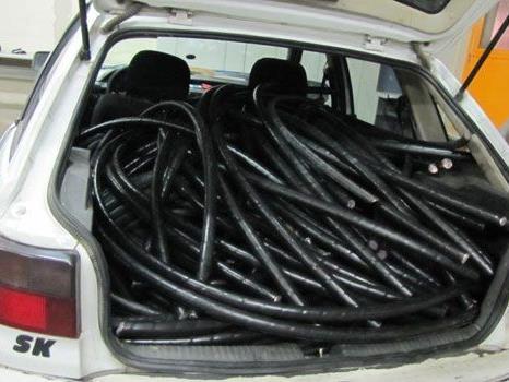 Mehrere Meter gestohlenes Kupferkabl aus Wien wurden sichergestellt.