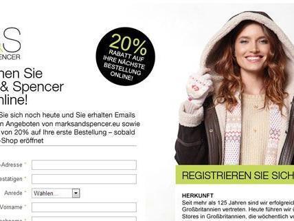 Am 19. November bekommt Österreich einen eigenen Online Shop von Marks & Spencer.