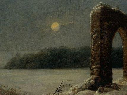 """Auch """"Winterlandschaft mit verfallenem Tor"""" von Carl Gustav Carus wird gezeigt."""