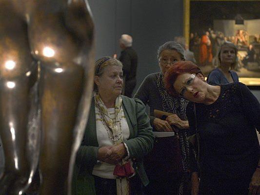 """Bei der """"nackte männer""""-Ausstellung in Wien"""