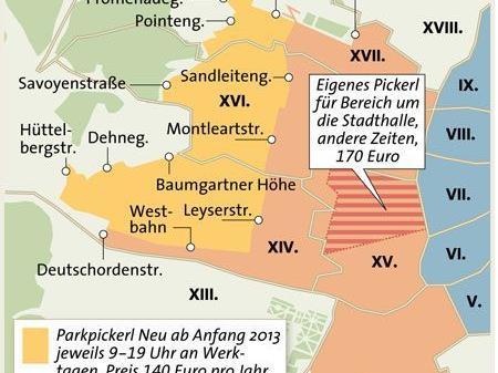 Wiener Parkpickerl Das Sind Die Neuen Zonengrenzen Parken Wien