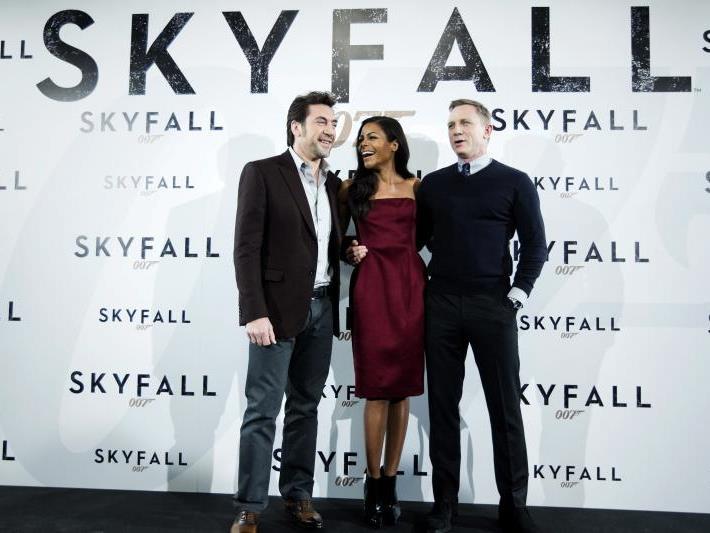 Javier Bardem, Naomie Harris und Daniel Craig bei der Premiere in Madrid