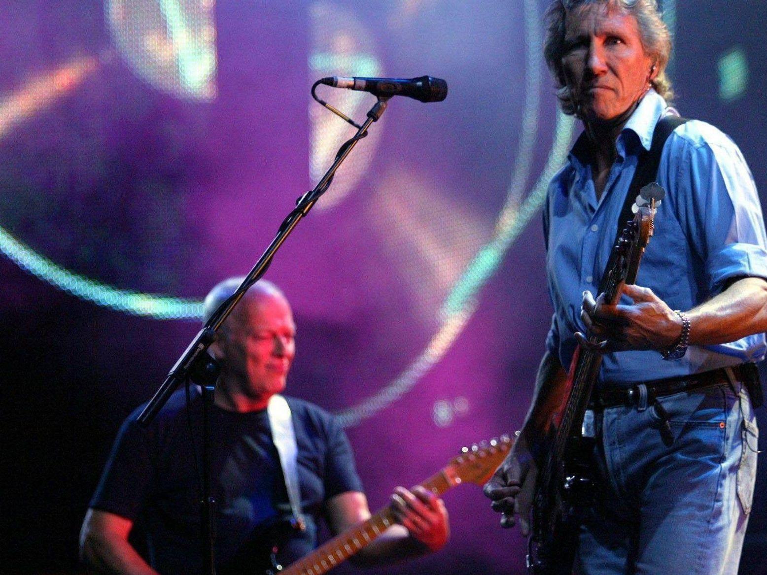Ehemaliger Pink Floyd-Bassist Roger Waters bei einem Konzert in London.