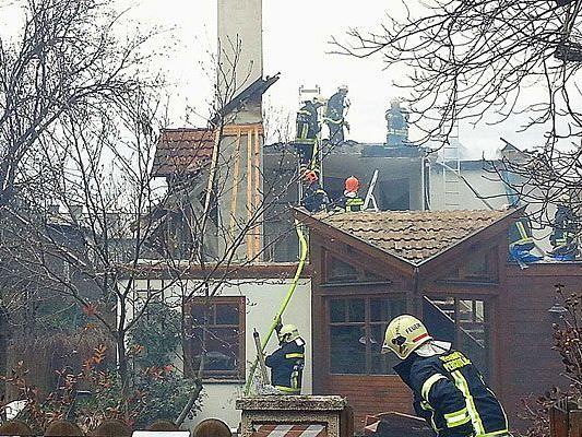 Auf einer Baustelle in Perchtoldsdorf kam es zu einem Brand-Einsatz