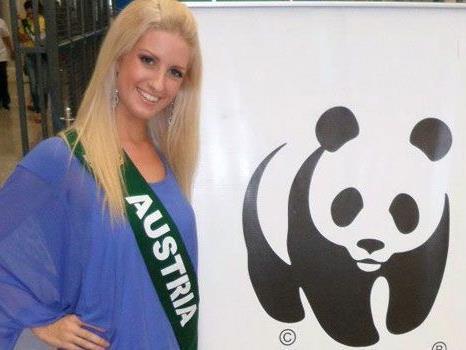 Die Wienerin Sandra Seidl für Österreich als Miss Earth.